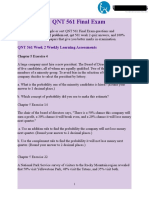 QNT 561 Final Exam - QNT 561 Week 1 Practice Quiz 45 Questions - UOP Students