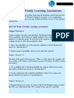 QNT 561 Weekly Learning Assessments Answers | UOP Students
