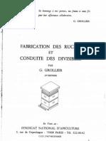 Fabrication des Ruches et Conduite des Divisibles par G. Grollier