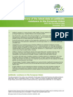Antibiotics Resistance EU Data 2015