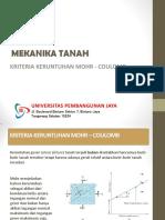 Slide Tsp204 Pertemuan 13 14 Kriteria Keruntuhan Mohr Coulomb