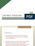 Definisi Tersedak