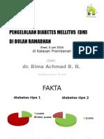 Kelola Diabet Saat Ramadhan