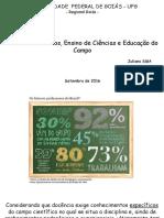 Recursos didáticos, educação do campo e ensino de ciências