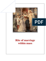 Rite of Catholic Marriage Within Mass (Complete Version)