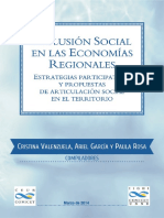 Inclusión Social en Las Economías Regionales