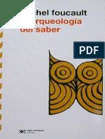 Arqueología Del Saber-FOUCAULT