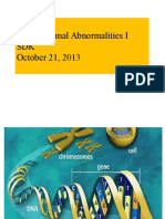 Chromosomal Abnormalities(I I) 6 SDK 2013