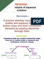 Revision Electrolysis