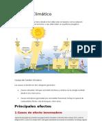 Cambio Climático-Trabajo Medio Ambiente y Desarrollo Sostenible
