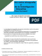 La Relación Entre Etnografía e Ntestigación Educativa
