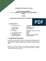 SILABO VOLADURA