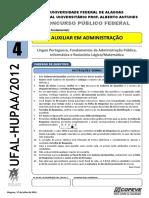 Tipo 4 - UFAL-HUPAA 2012 - Auxiliar Em Administração