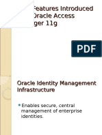 New Features Introduced With Oracle Access Manager 11g