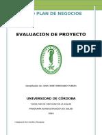 Modulo de Evaluacion de Proyectos. Nuevo