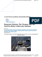 Deepwater Horizon, The Cheonan And The Need For Better Underwater Defenses