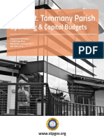 St Tammany Parish Budget 2016 Budget Book with 34 Insurance Policies