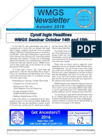 2016 WMGS Fall Newsletter