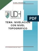nivelacion con nivel - topografia