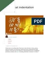 Indentation or Spacing Bt Paragraphs