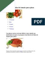 Receta de Salsa de Tomate Para Pizza