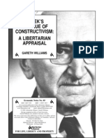 Hayek's Critique of Constructivism