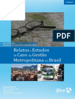 Volume 3 Relatos e Estudos de Caso Da Gestão Metropolitana No Brasil (IPEA)