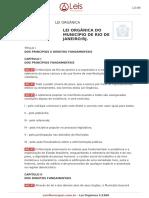 Lei Organica 1 1990 Rio de Janeiro RJ