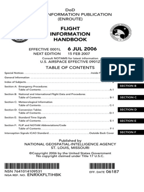 Flight Information Handbook | Instrument Flight Rules | Transponder