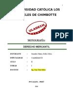 Monografía Derecho Mercantil