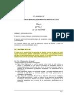 Ley Organica Recursos Hidricos Resumen