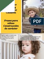 Frases Para Niños-Construcción de Carácter - Character Building Quotes for Children