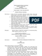 Uu No 14 Th 2008, Keterbukaan Informasi Publik