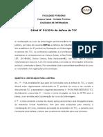 Edital - Apresentação de Tcc