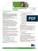 A Guide to the Grazing Requirements of Fibre and Meat Goats