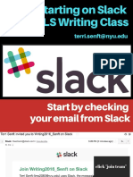 starting on slack for gls writing seminar