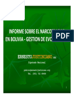 Informe Narcotrafico Gestion Evo Morales