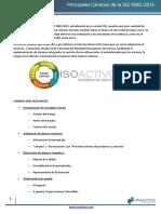 Principales Cambios ISO 9001 2015