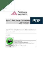 Aptio TSE Users Guide