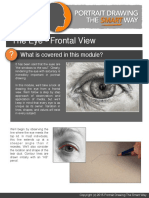 how to draw the eye frontal view