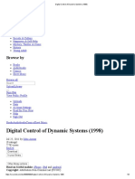 Digital Control of Dynamic Systems (1998)