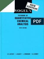Vogel's Textbook of Quantitative Chemical Analysis - Free Book