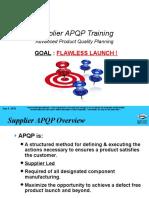 Supplier APQP Training