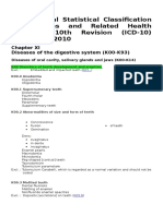 International Statistical Classification of Diseases and Related Health Problems 10th Revision