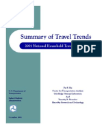 Summary of Travel Trends 2001