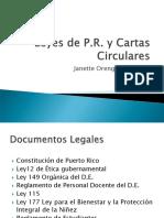 LEYES DE P.R. Y CARTAS CIRCULARES