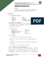 Memoria Descriptiva i.e.i. Chambalaya Arriba