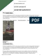 La Ideología Social Del Automóvil Gotz 1973