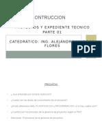 Proyectos y Expediente Tecnico Parte 01