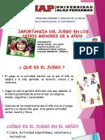 IMPORTANCIA DE LOS JUEGOS EN LOS NIÑOS